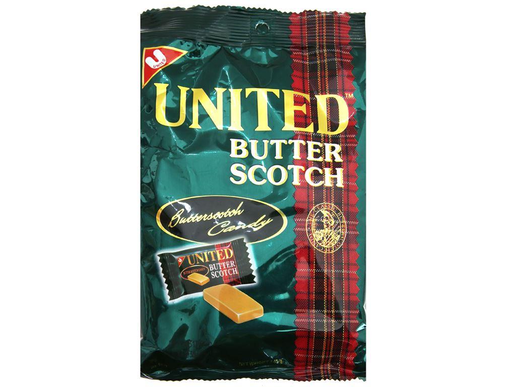 Kẹo bơ United Butter Scotch gói 140g 2