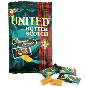 Kẹo bơ United Butter Scotch gói 140g