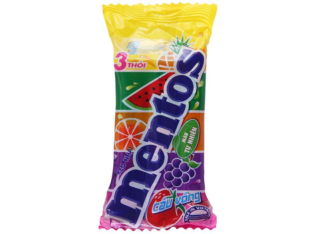 Kẹo nhai Mentos Cầu vồng gói 90g (3 thỏi) 2