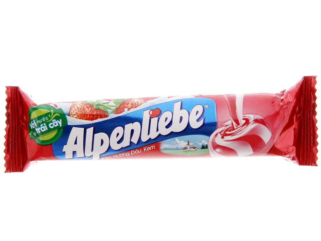 Kẹo ngậm hương dâu kem Alpenliebe thỏi 32g 2