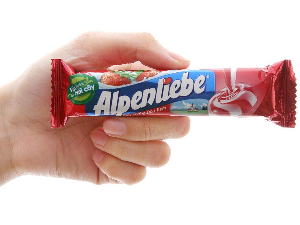 Kẹo ngậm hương dâu kem Alpenliebe thỏi 32g 5