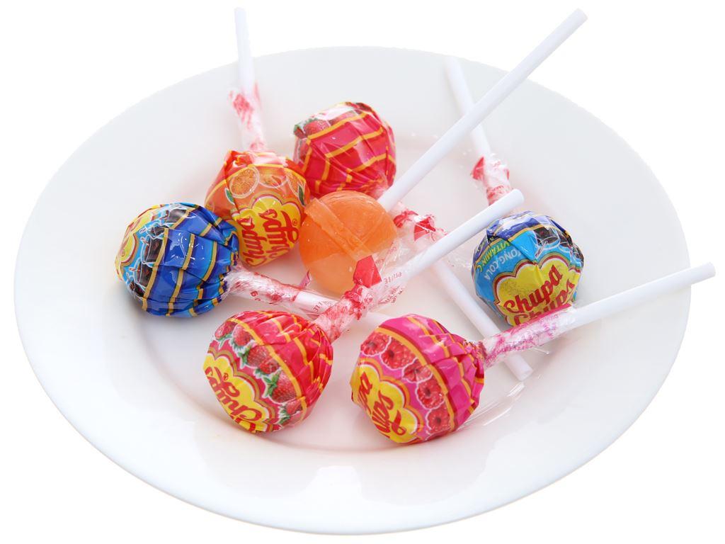 Kẹo mút Chupa Chups hương trái cây hỗn hợp gói 100g 4