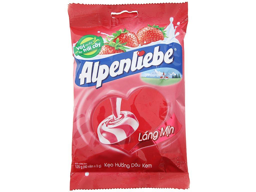 Kẹo hương kem dâu Alpenliebe gói 120g 1