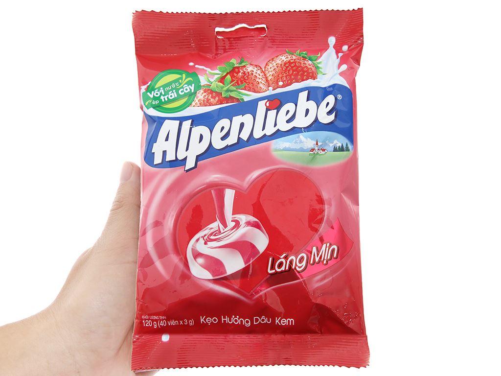 Kẹo hương kem dâu Alpenliebe gói 120g 4