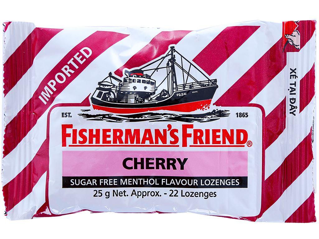 Kẹo cay con tàu Fisherman's Friend Không đường hương cherry 25g 1