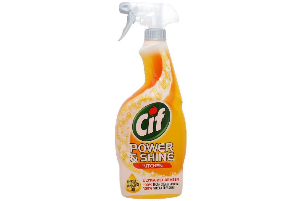 Xịt Lau Nhà Bếp CIF Power & Shine 700ml