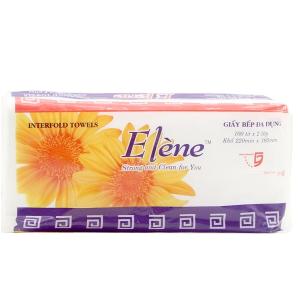 Giấy bếp đa dụng Elene hương tự nhiên 100 tờ