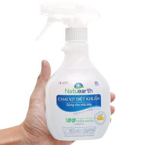 Xịt diệt khuẩn nhà bếp Natuearth chai 410ml