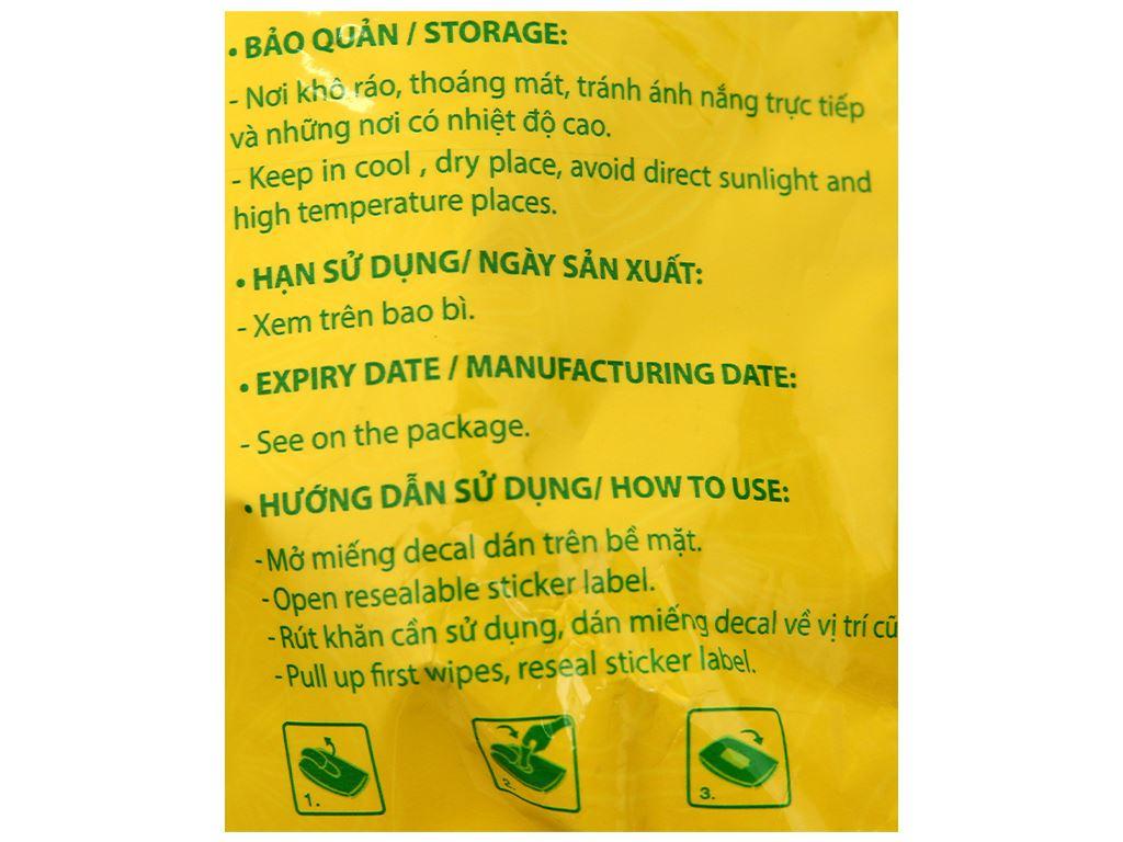 Khăn ướt đa năng HLP Clean & Light gói 30 miếng 3