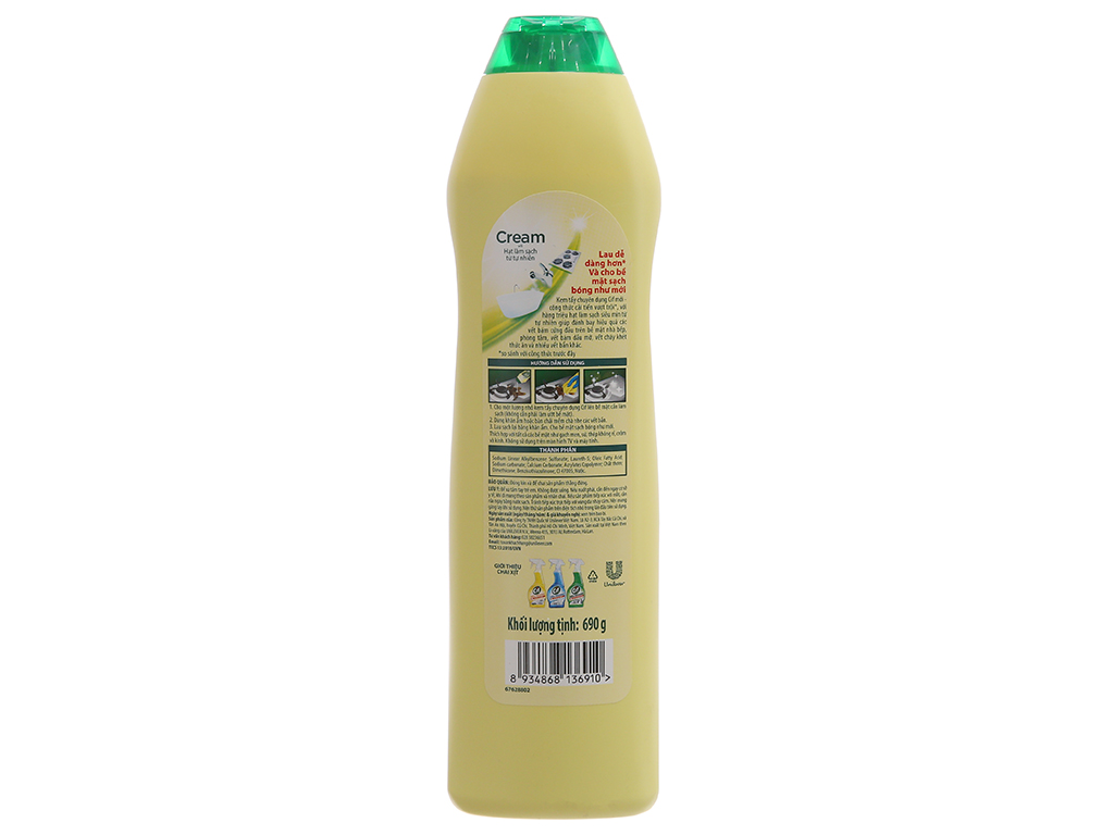 Kem tẩy đa năng Cif hương chanh chai 690g 3