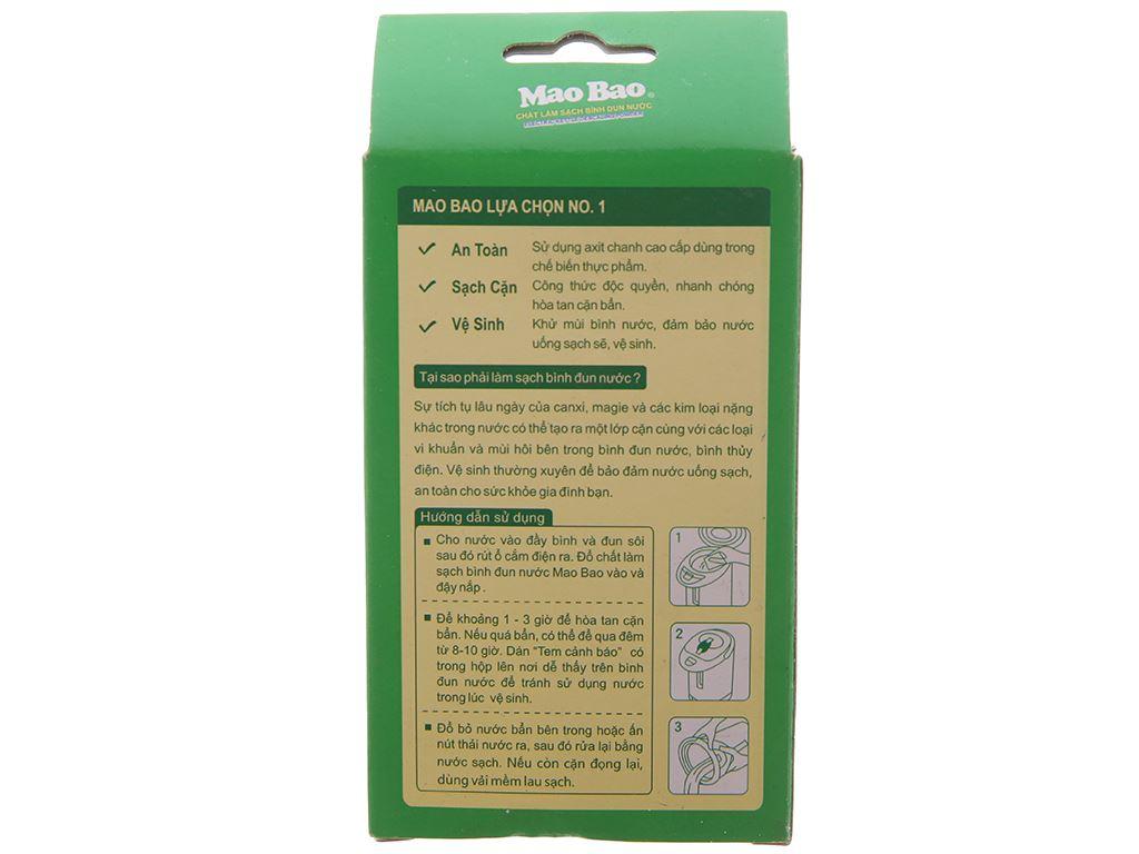 Chất làm sạch bình đun nước Mao Bao khử mùi & sạch cặn gói 25g 2