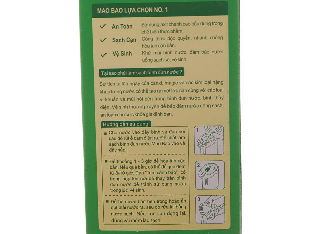 Chất làm sạch bình đun nước Mao Bao khử mùi & sạch cặn gói 25g 4