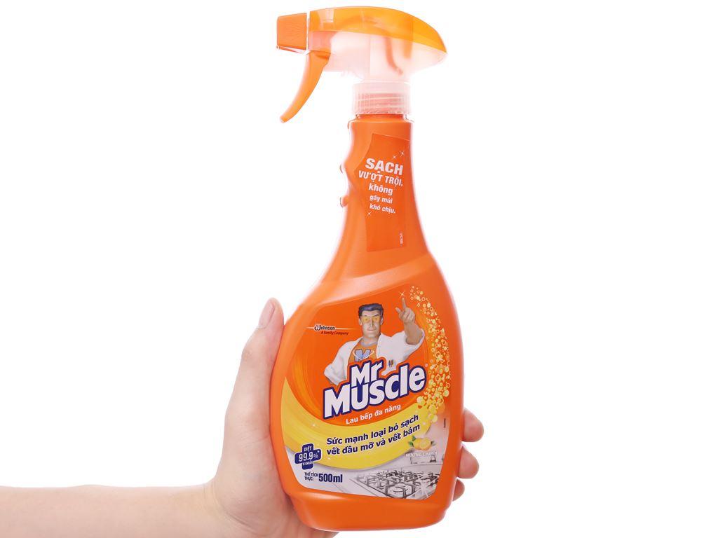 Nước tẩy đa năng Mr Muscle hương chanh chai 500ml 3