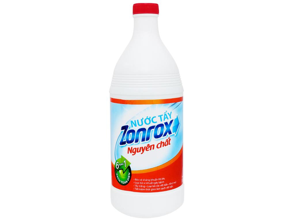Nước tẩy Zonrox nguyên chất chai 1 lít 1