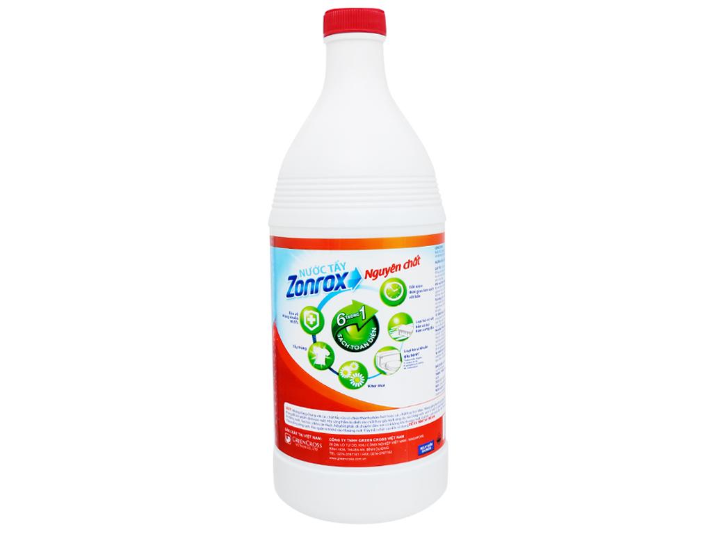 Nước tẩy Zonrox nguyên chất chai 1 lít 2