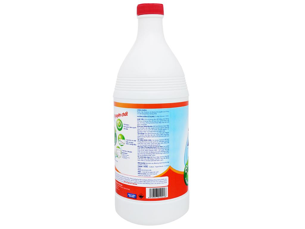 Nước tẩy Zonrox nguyên chất chai 1 lít 3