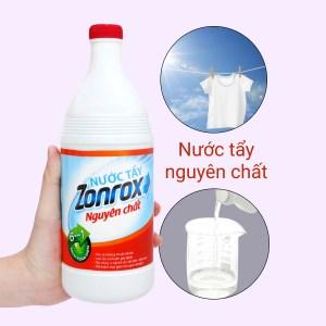 Nước tẩy Zonrox nguyên chất chai 1 lít