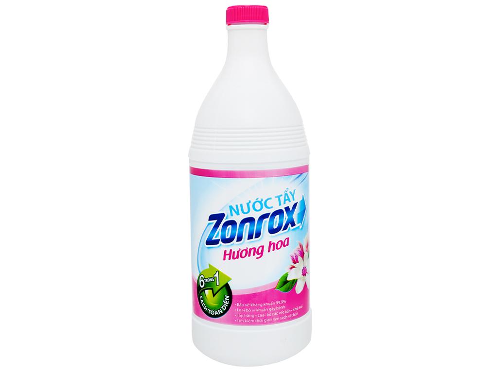 Nước tẩy Zonrox hương hoa chai 1 lít 1