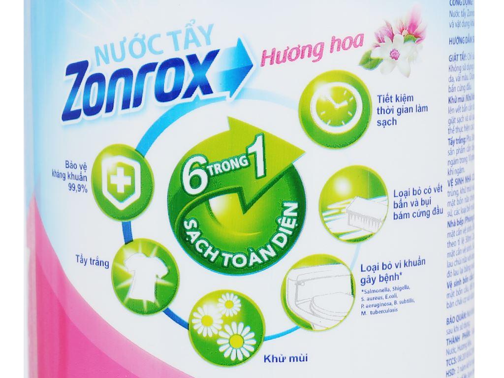 Nước tẩy Zonrox hương hoa chai 1 lít 5