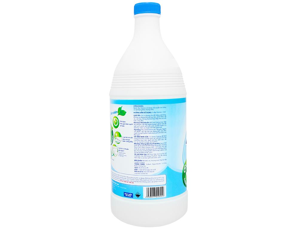 Nước tẩy Zonrox thiên nhiên chai 1 lít 3