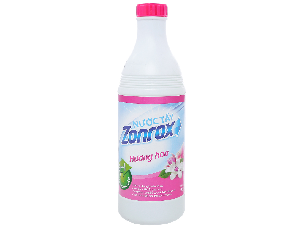Nước tẩy Zonrox hương hoa chai 500ml 1