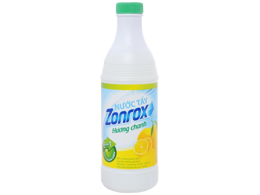 Nước tẩy Zonrox hương chanh chai 500ml 1