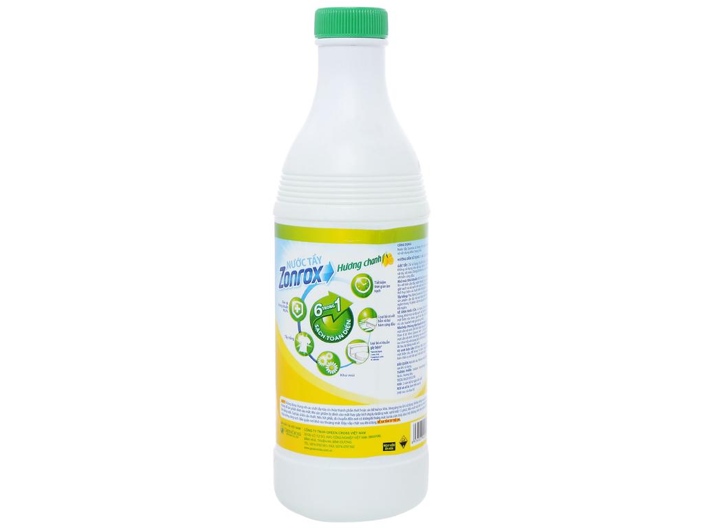 Nước tẩy Zonrox hương chanh chai 500ml 2