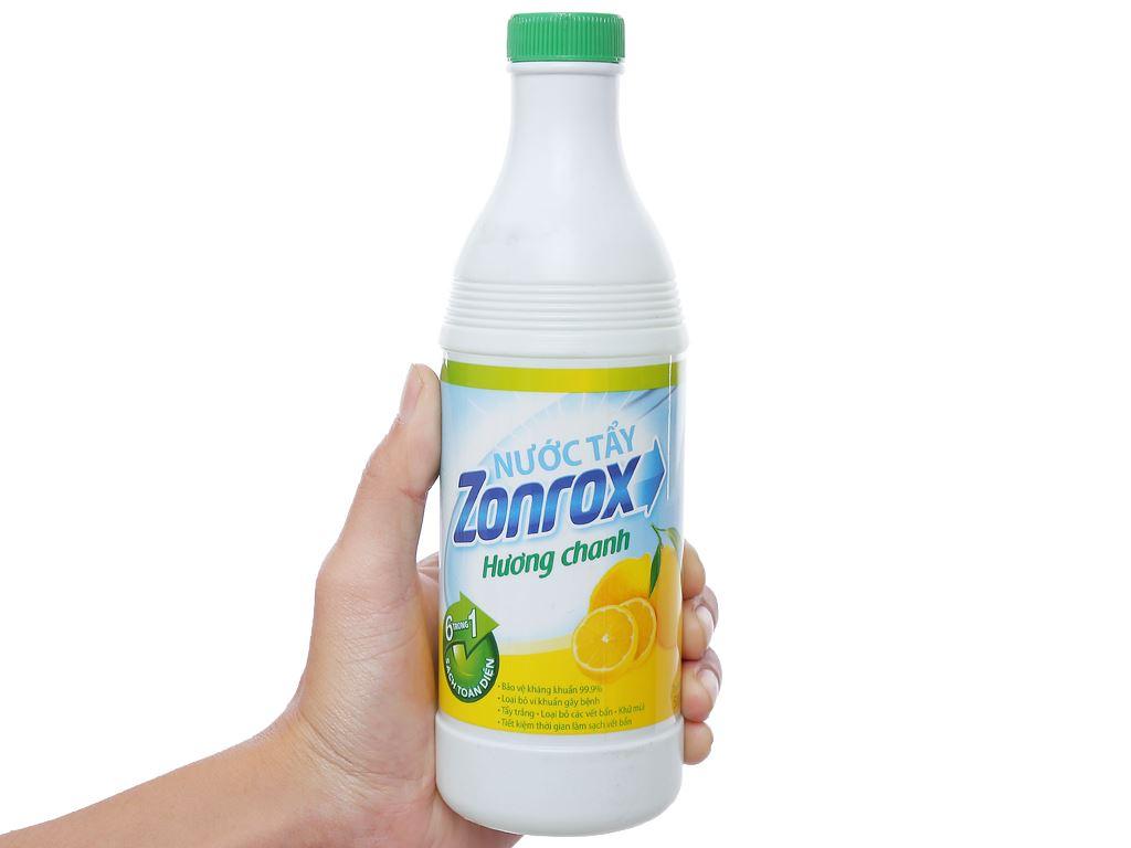Nước tẩy Zonrox hương chanh chai 500ml 3