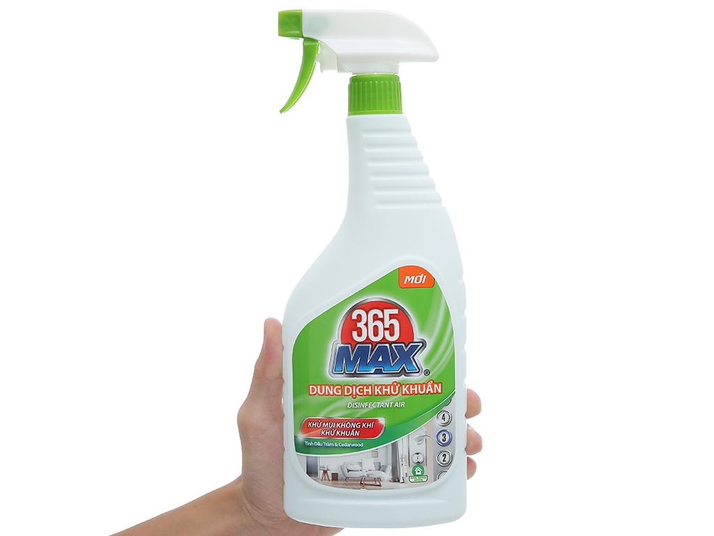 Dung dịch diệt khuẩn 365 Max chai 750ml 4