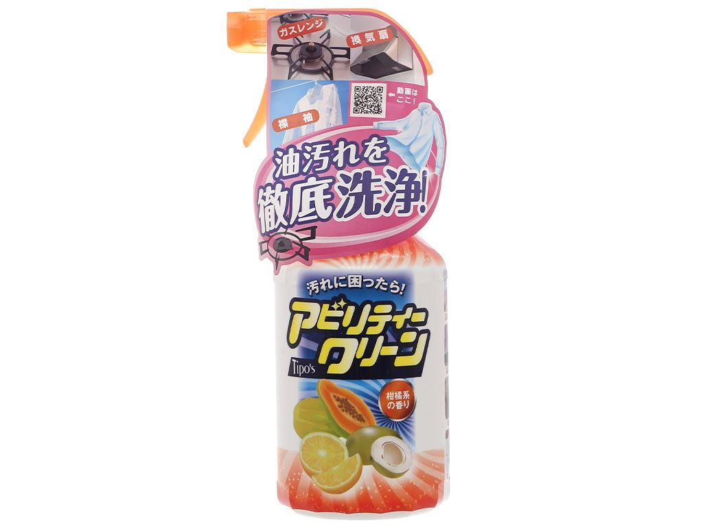 Dung dịch tẩy đa năng Tipo's hương trái cây chai 500ml 1