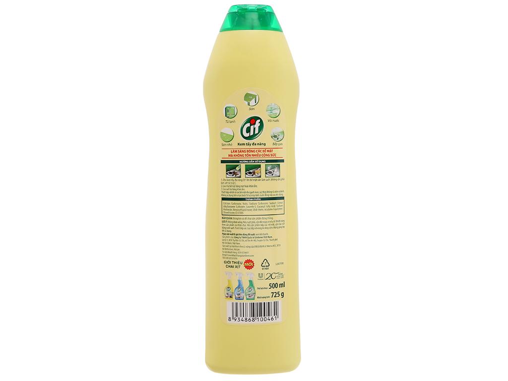 Kem tẩy đa năng Cif hương chanh chai 500ml 3