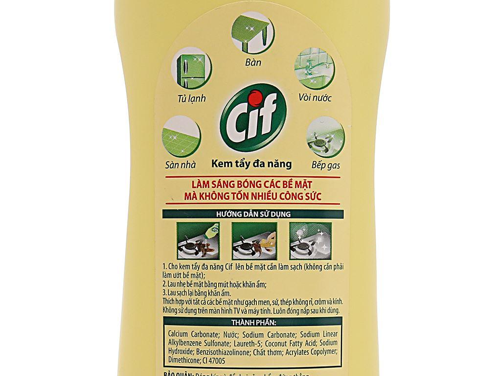 Kem tẩy đa năng Cif hương chanh 500ml 5