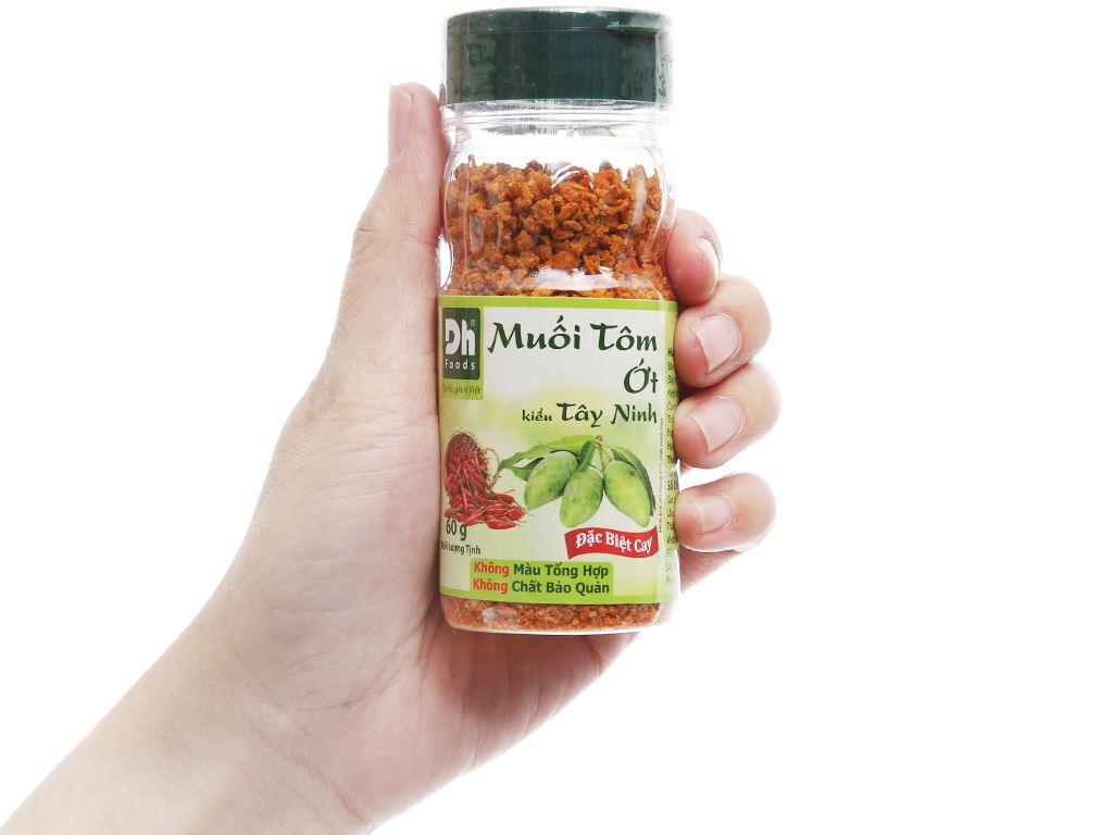 Muối tôm ớt kiểu Tây Ninh Dh Foods hũ 60g 4