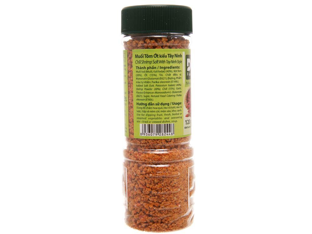 Muối tôm ớt kiểu Tây Ninh Dh Foods hũ 120g 2