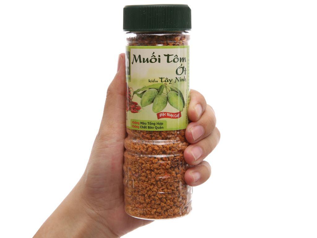 Muối tôm ớt kiểu Tây Ninh Dh Foods hũ 120g 3