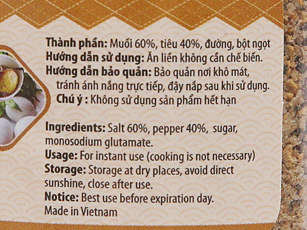 Muối tiêu chanh Phú Quốc Sáng Lợi hũ 120g 2
