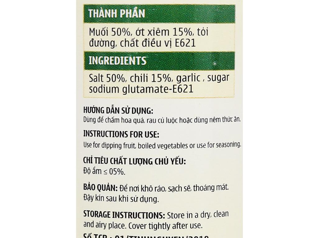 Muối ớt xiêm rừng Tinh Nguyên hũ 90g 6