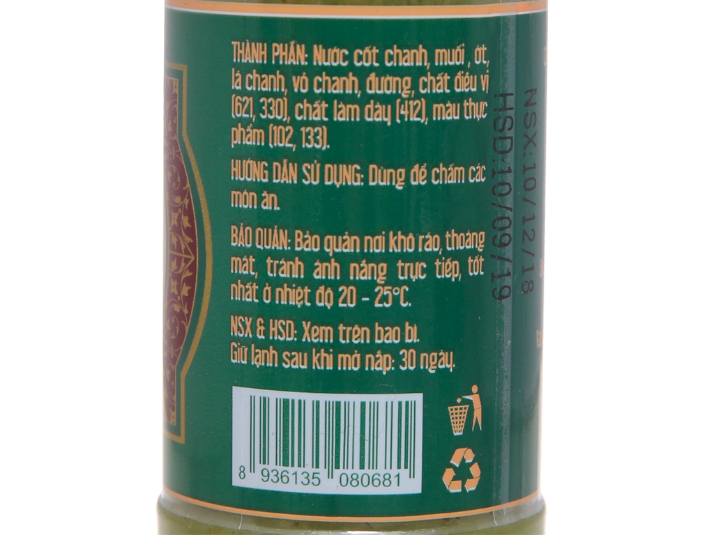 Sốt muối chanh Chavi chai 260g 5