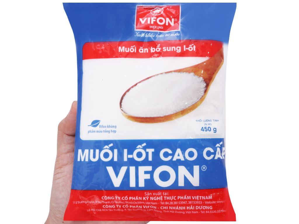 Muối I-ốt cao cấp Vifon gói 450g 3