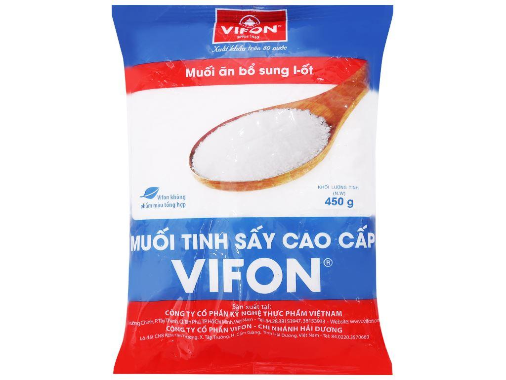 Muối tinh sấy cao cấp Vifon gói 450g 1