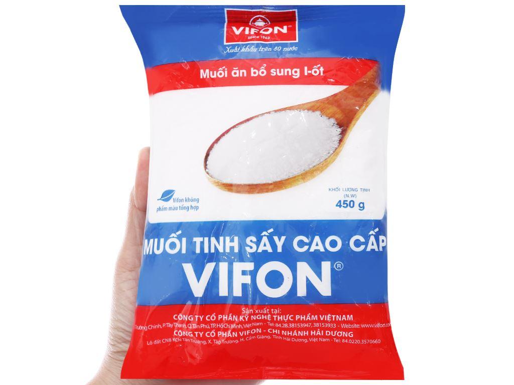 Muối tinh sấy cao cấp Vifon gói 450g 3