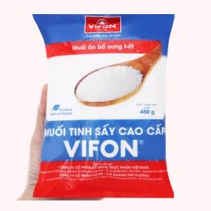 Muối tinh sấy cao cấp Vifon gói 450g