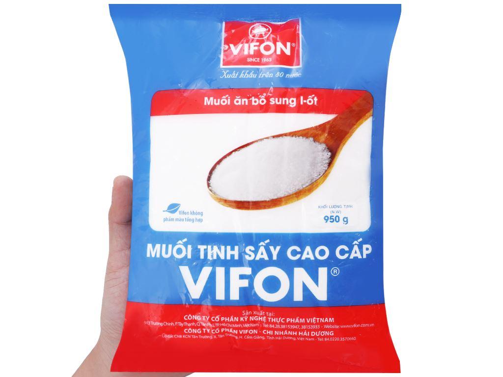 Muối tinh sấy cao cấp Vifon gói 950g 3