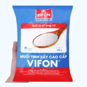 Muối tinh sấy cao cấp Vifon gói 950g