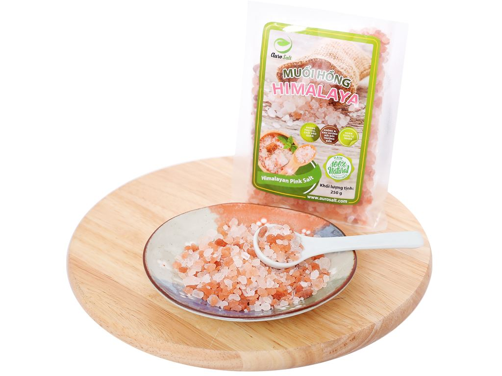 Muối hồng Himalaya Auro Salt hạt to gói 250g 4