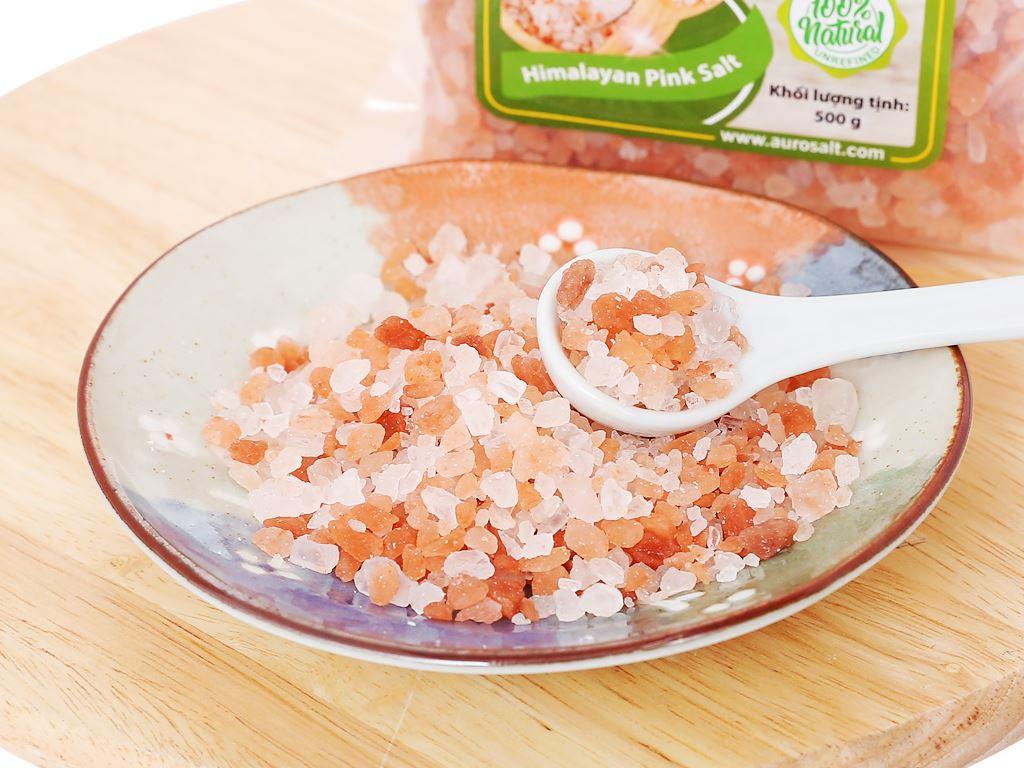 Muối hồng Himalaya hạt to Auro Salt gói 500g 4