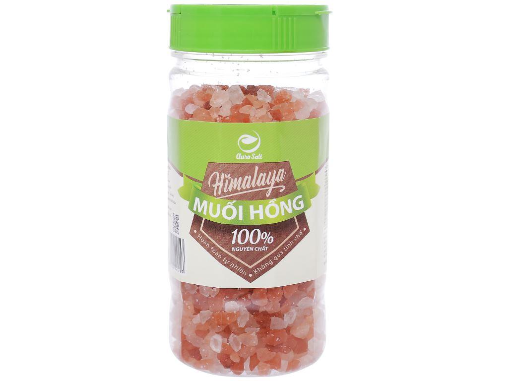Muối hồng Himalaya hạt to Auro Salt hũ 250g 1
