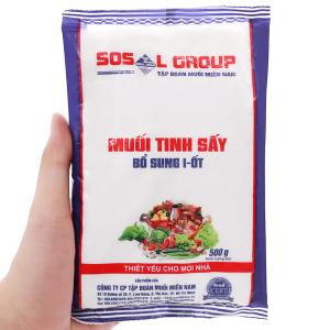 Muối tinh sấy bổ sung i-ốt Sosalco gói 500g
