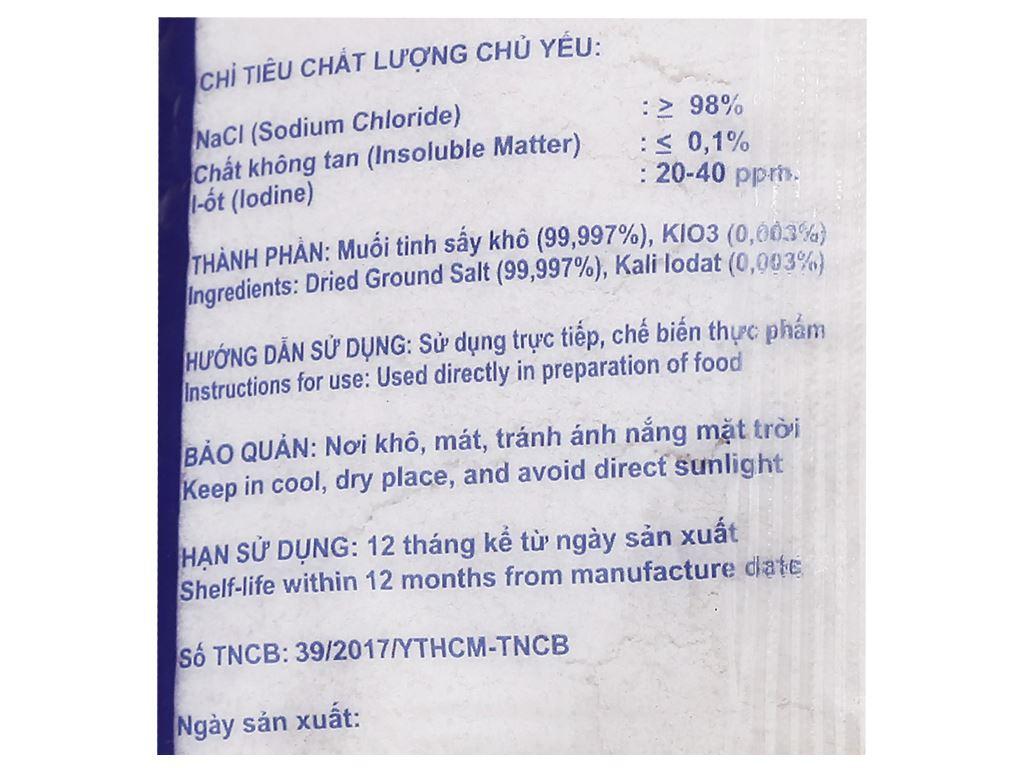 Muối tinh sấy bổ sung i-ốt Sosal Group gói 500g 4