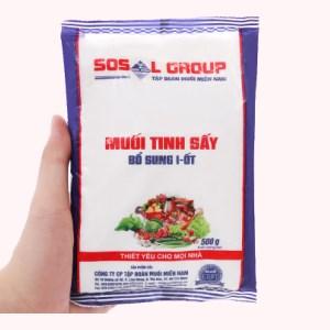 Muối tinh sấy bổ sung i-ốt Sosal Group gói 500g